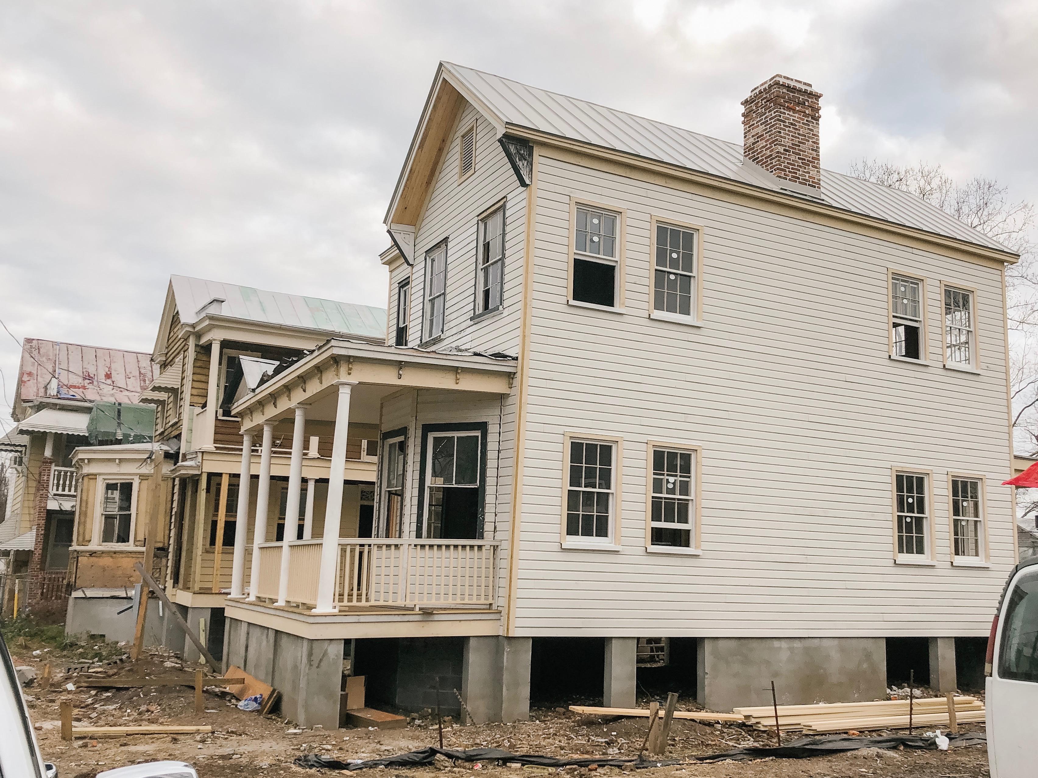 Home under construction in Charleston SC