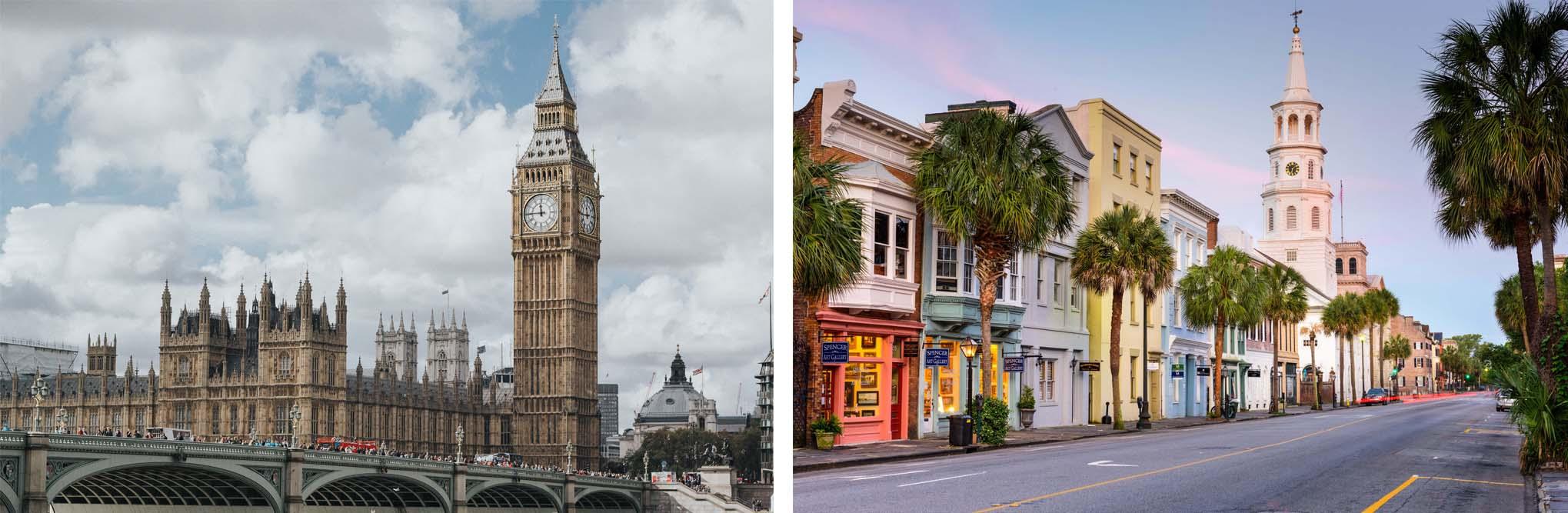 London and Charleston Collage