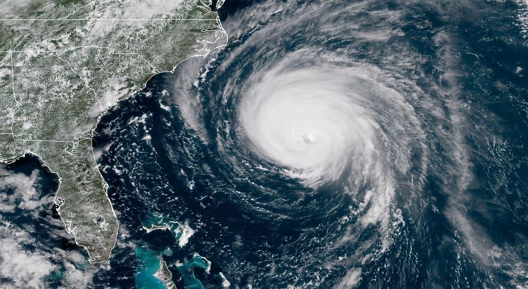 Hurricane eye of the storm