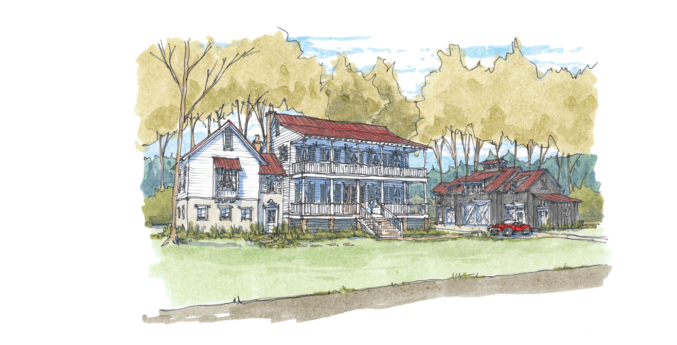 Sketch of elevation at Palmetto Bluff