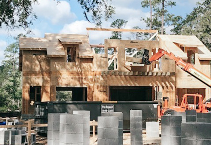 House in Palmetto Bluff Framing