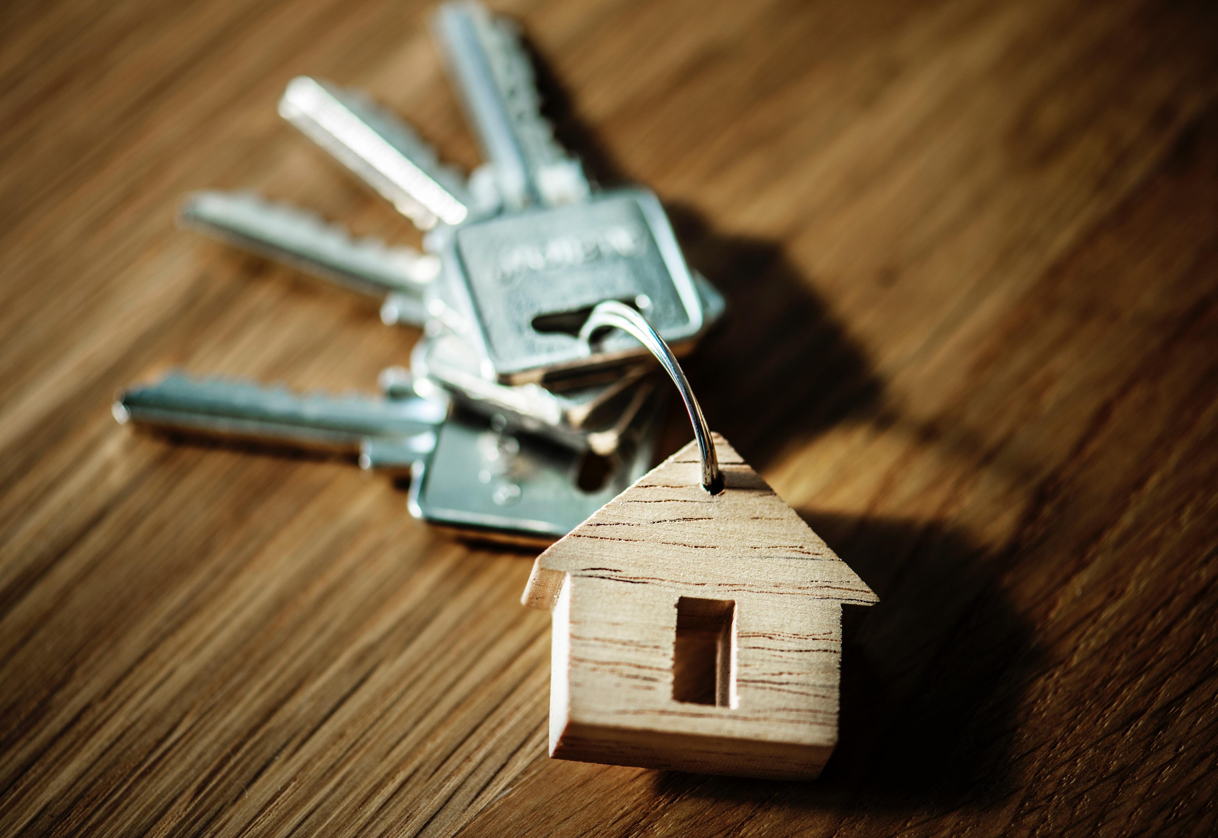 Tiny house on a ring of keys