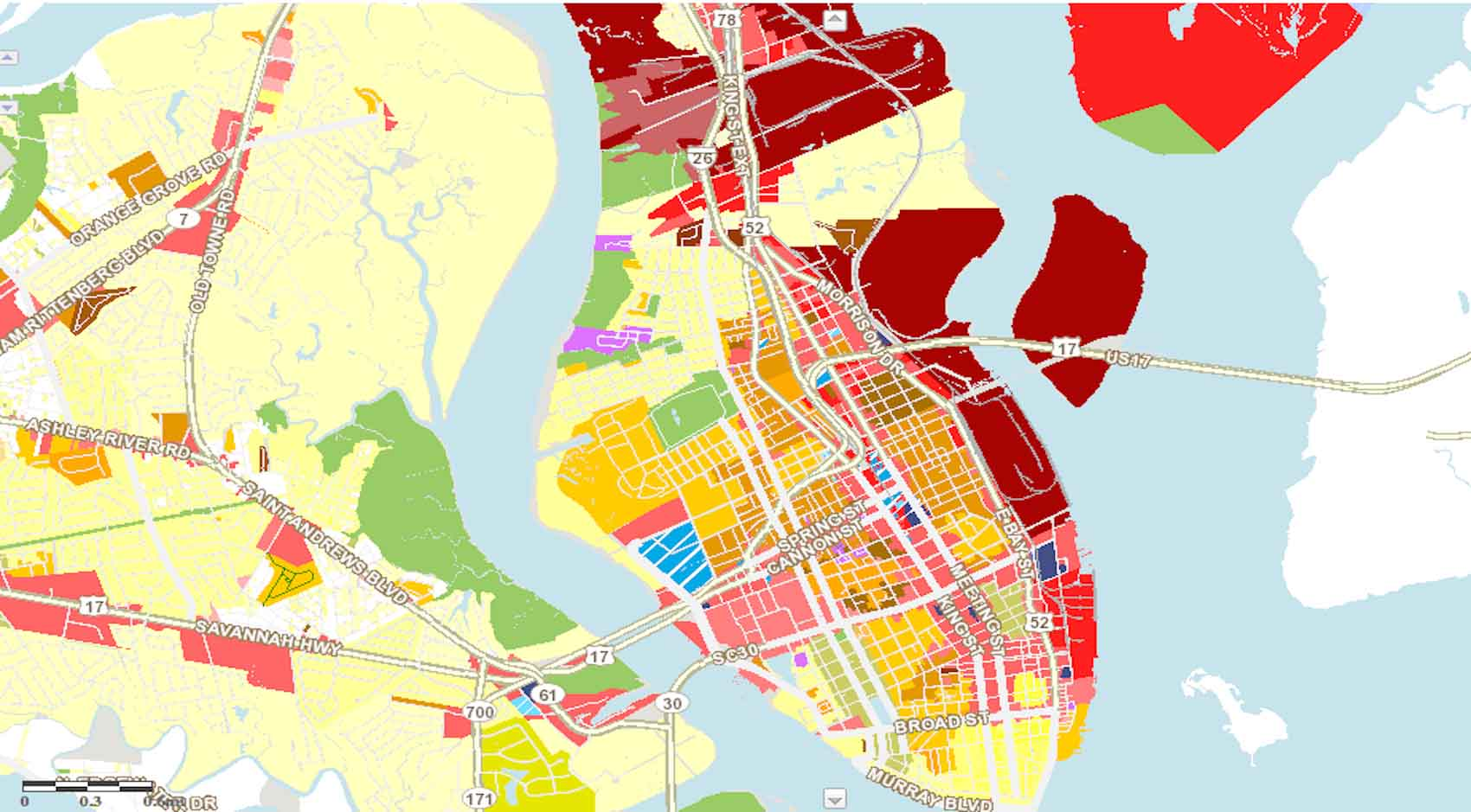 zoning map of Charleston