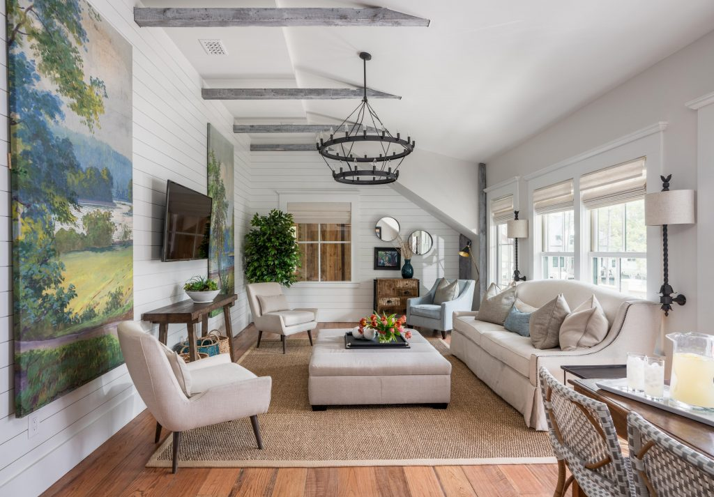 Interior and furnishings of living space of the Carriage House