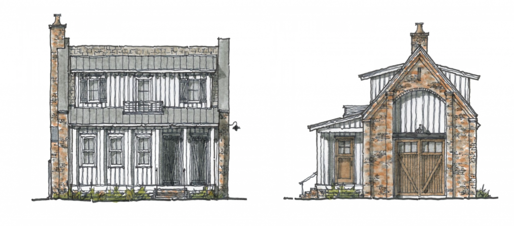 Rendering of Simplified Construction Project in Palmetto Bluff